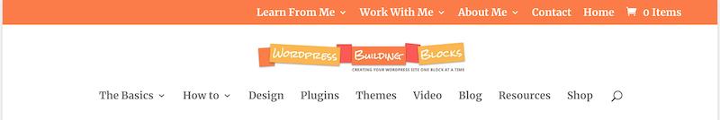 an example showing 2 custom menus in WordPress