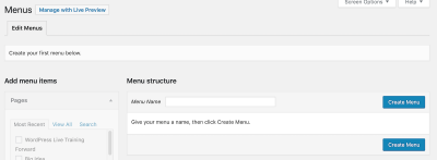 create your new custom menu here