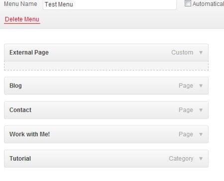 WordPress Custom Menu
