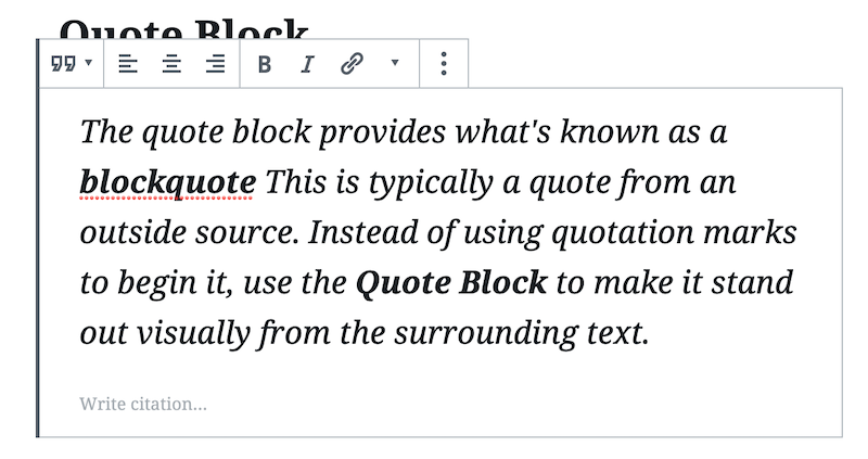 Here's the large style blockquote.