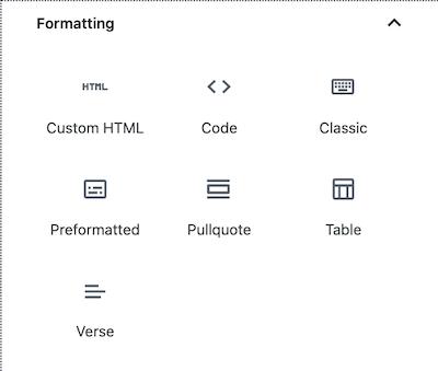 Formatting blocks in the WordPress block editor